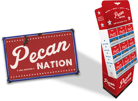 Pecan Nation upright display